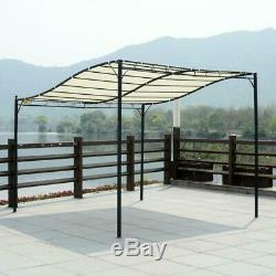 Large 3X3m Gazebo Canopy Pergola Awning Sun Shade Door Porch Metal Frame Cover