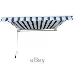 Large Door Canopy Manual Retractable Awning Shelter Porch Outdoor Sun Shade
