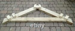 Large King post apex timber door canopy or porch framework kit inc all fixings