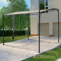 Metal Garden Wall Gazebo Marquee BBQ Door Canopy Awning Porch Patio Tent Shelter