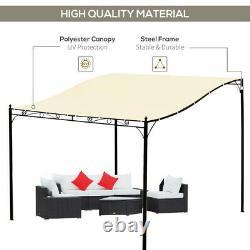Metal Wall Gazebo Outdoor Garden Porch Door Canopy Sunshade Shelter Tent Carport