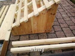 Monopitch door / porch canopy timber framework kit includes all assembly fixings