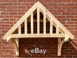 Morchard Timber Door Canopies Wooden front door porch canopy gallows bracket
