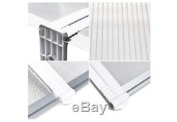 NEW Door Canopy Awning Window Rain Shelter Cover Front Door Porch White Covers