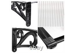 NEW Door Canopy Awning Window Rain Shelter Cover for Front Door Porch Black