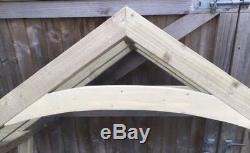 New 1800mm curved wooden canopy porch