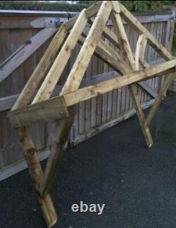 New 1800mm wooden Curved canopy porch
