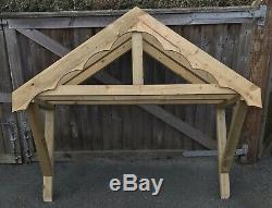 New 2000mm Wooden Canopy Porch With Shaped Fascias