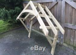 New 2100mm curved wooden canopy porch