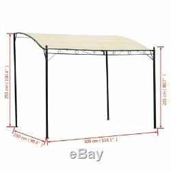 New Garden Gazebo Awning Canopy Sun Shade Marquee Shelter Door Porch Steel Frame