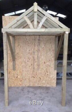New Pressure Treated 1500mm wooden Curved canopy porch