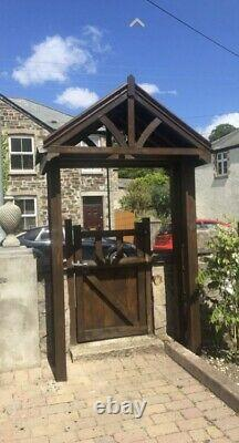 New wooden Curved canopy porch