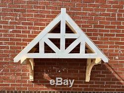 Nymet Timber Door Canopies -Wooden front door porch canopy, gallows bracket
