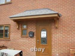 OAK Colour Amazon GRP Fibreglass Door Canopy 2700mm wide Free Brackets Porch