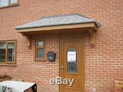 OAK Colour Amazon GRP Fibreglass Door Canopy 8ft wide Free Brackets Porch