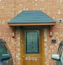 OAK Colour Amazon GRP Fibreglass Door Canopy Entrance Porch 6ft Awning