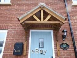 Oak Front Door Canopy Porch Hand Made Porch Size 2