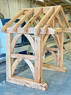 Oak Gothic Style Chunky Porch / Canopy Solid Oak Porch Doorway Entrance Oak