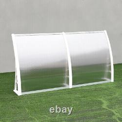 Outdoor Cover Clear ABS Canopy Awning Door Window Patio Porch Shelter Rain Shade