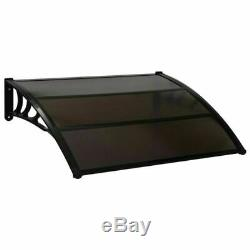 Outdoor Door Canopy Awning Shelter Porch Shade Patio Roof Rain Cover 4 Sizes NEW