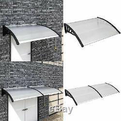 Outdoor Patio Door Awning Canopy Porch Window Front Back Rain Cover 4 Sizes