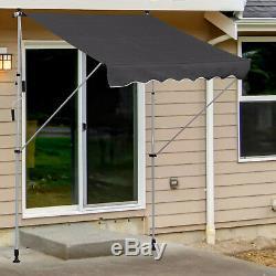 Outdoor Retractable Awning Waterproof Sun Shade Window Door Porch Canopy Patio