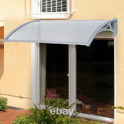 Outsunny Door Awning Canopy Porch Window 140cm x 70cm Patio