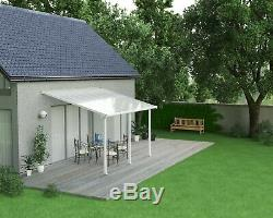Palram Olympia Adjustable Patio Cover White Canopy Porch Pergola Gutter Canopies