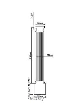ROSEWOOD Columns Elegance GRP Porch Door Canopy and Columns Pillars Package