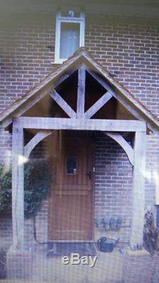 Real Solid Oak Framed Porch Door Canopy Building