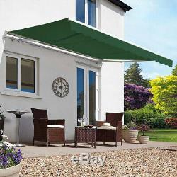 Retractable Manual Awning Garden Canopy Outdoor Patio Porch Sun Shade Shelter UK