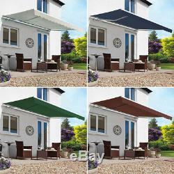 Retractable Patio Deck Awning Outdoor Window Awning Door Canopy Porch Shelter uk