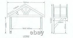 Richard Burbidge Apex Porch Canopy 1600mm + Gallow Brackets (LC002)