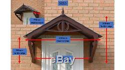 Shaftesbury Canopy Rain shade Sun Shelter cover front door porch DIY awning