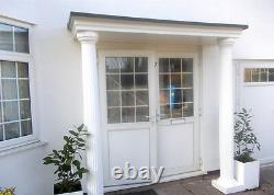 Sienna GRP Complete Door Entrance Canopy and Columns Pillars Package. Porch Kit