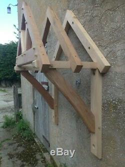Small green oak door canopy kit. Green oak canopy. Door porch. Oak porch kit