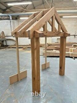 Solid Oak Porch 1500mm Wide x 900mm depth x 1425mm Post Height Pre Oiled