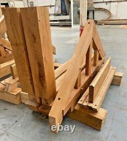 Solid Oak Porch 1750mm Wide x 900mm depth x 1425mm Post Height Pre Oiled