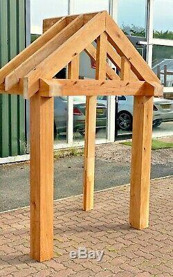 Solid Oak Porch EX DEMO 1500mm Wide x 900mm depth x 1425mm Post Height