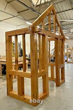 Solid Oak Porches, Doorway, Wood porch, CANOPY, Entrance, Made to measure porch