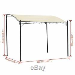 Steel Gazebo Awning Canopy Pergola Shade Marquee Shelter Door Porch Cream White