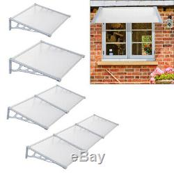 Straight Door Canopy Outside Window Awning Porch UV/Sun/SnowithRain Shade Shelter