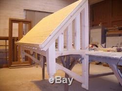 Timber Door Canopies Bespoke wooden porch canopy, gallows bracket