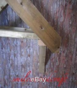 Timber Front Door Canopy Porch / 3 Spoke Hand Made Porch