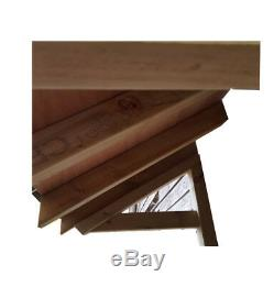 Timber Front Door Canopy Porch Flat porch