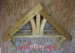 Timber Front Door Canopy Porch Fleur De Lys Style