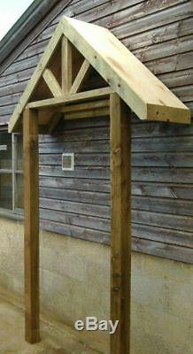 Timber Front Door Canopy Porch & STILTS Hand Made Porch