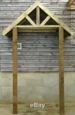 Timber Front Door Canopy Porch & STILTS Hand Made Porch LARGE