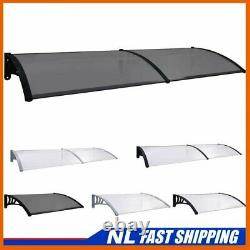 UKING Door Canopy PC Porch Awning Rain Shelter Roof Multi Colours Multi Sizes
