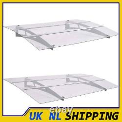 UKING Door Canopy Polycarbonate Porch Awning Rain Shelter Roof 120cm/150cm